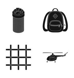 Transport justice and other web icon in black vector