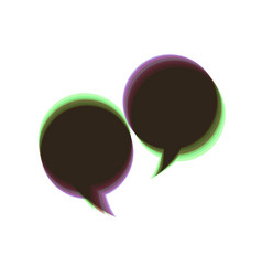 Two speech bubble sign colorful icon vector