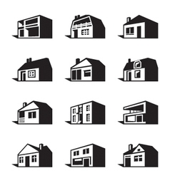 Various types of houses vector image vector image