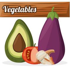 Vegetables ingredients cooking image vector