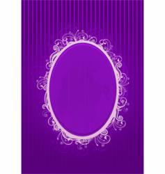 violet frame vector image vector image