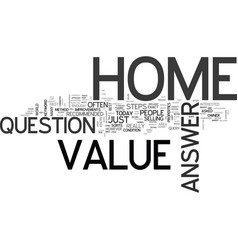 What s the value of my home text word cloud vector