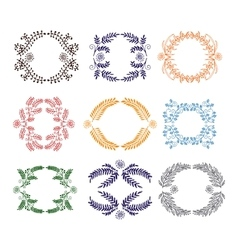 set of graphical design elements vector image
