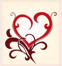 Decoration heart vector image