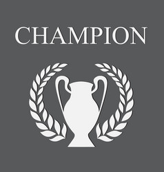 Champion gray vector