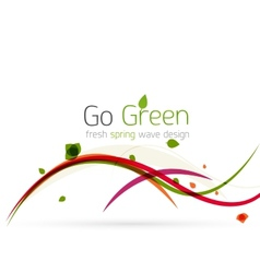 Colorful spring lines conceptual nature design vector image
