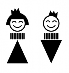 Queen and king toilet sign vector