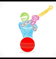 Batsmen hit the ball banner design vector
