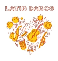 Salsa music and dance with musical vector
