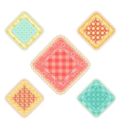 Set of patchwork rhombuses vector