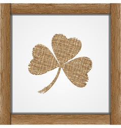 Leaf of clover vector