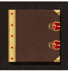 Leather vintage book hardcover vector