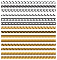Chain rope seamless pattern vector image