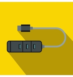 Usb adapter connectors icon flat style vector