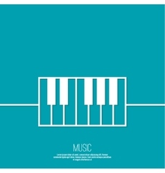 Icon piano keys vector
