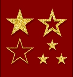 Golden figure stars vector