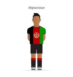 Afghanistan football player soccer uniform vector