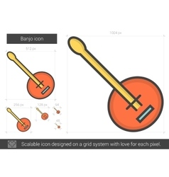 Banjo line icon vector