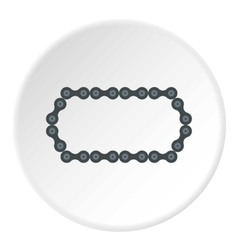 Bike chain icon flat style vector