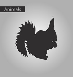 Black and white style icon of squirrel vector