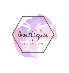 Boutique fashion logo badge for clothes shop vector