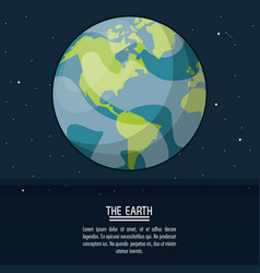 Colorful poster with planet earth vector