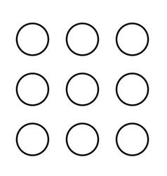 Dial button black color icon vector