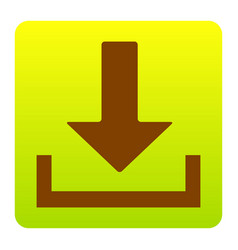 Download sign brown icon at vector