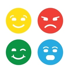 Feedback in form of emotions smileys emoji vector