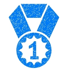 First place medal grainy texture icon vector