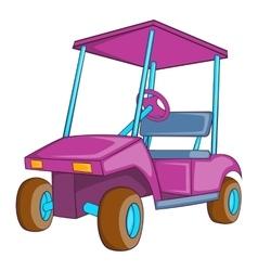 Golf car icon cartoon style vector