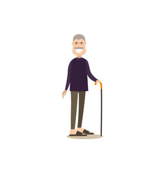 granddad concept in flat style vector image vector image