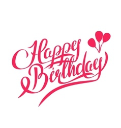 Happy birthday lettering - design element vector