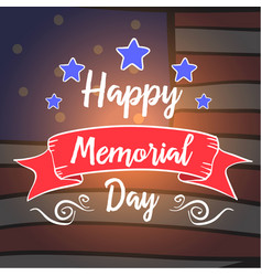 Happy memorial day style hand draw vector