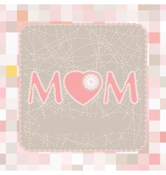 happy mothers day poste vector image vector image