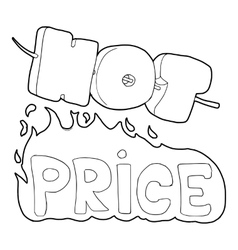 Hot price icon outline style vector