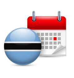 Icon of national day in botswana vector