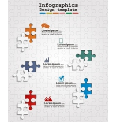 Infographics web design with puzzle vector