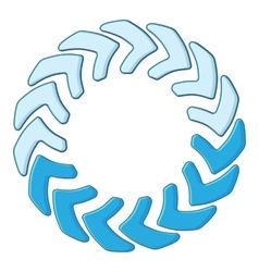 Loading circle icon cartoon style vector