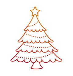 merry christmas pine tree vector image vector image