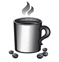 mug of coffee vector image vector image
