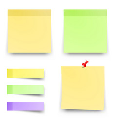 post sticky colored papers office notes vector image