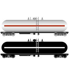 Railway tank vector