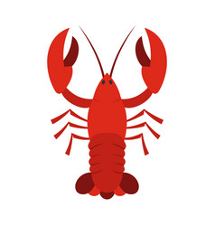 red crayfish icon flat style vector image