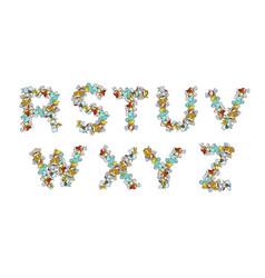 Rubbish font trash abc garbage alphabet letter vector