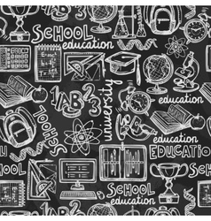 School education chalkboard seamless pattern vector image vector image