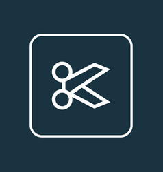 scissors outline symbol premium quality isolated vector image