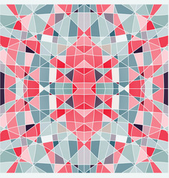 seamless pattern mosaic with red pieces vector image vector image