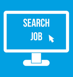Search job icon white vector