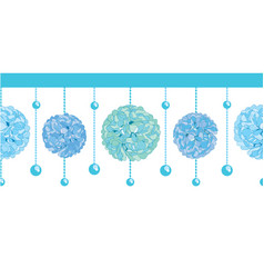 Set of blue bay boy birthday party paper vector